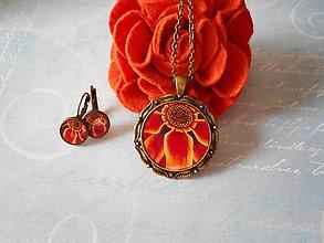 Sady šperkov - Ohnivý kvet - 11200675_