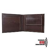 Tašky - Ochranná pánska kožená peňaženka v tmavo hnedej farbe - 11201541_
