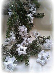 Dekorácie - Hviezdičky - ozdoby na vianočný stromček - 11202217_