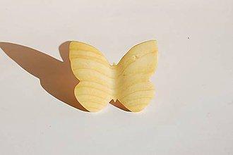 Odznaky/Brošne - Drevená brošňa - Smrekový motýľ 1 - 11201695_