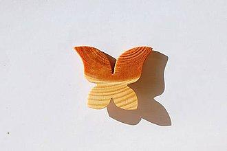 Odznaky/Brošne - Drevená brošňa - Smrekový motýľ 2 - 11201754_