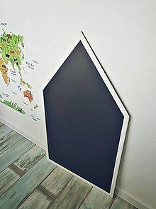 """Tabuľky - tabuľa na kreslenie domček XXL """"bielo-čierna"""" - 11199364_"""