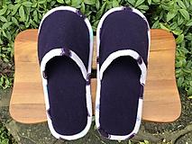 Obuv - Tmavé fialové papuče - 11201283_