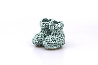 Topánočky - Šedozelené papučky EXTRA FINE - 11200654_