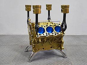 Nábytok - Konferencny stolik z bloku motora V6 Audi - 11201883_