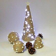 Dekorácie - ORION - vianočná dekorácia - stromček zlatý - 11201782_