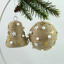 Dekorácie - ORION - vianočná dekorácia - gule a zvonček - 11201797_