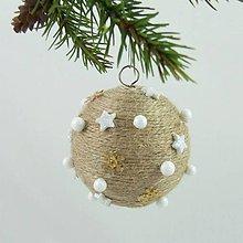 Dekorácie - ORION - vianočná dekorácia - gule a zvonček (guľa ø 6,5 cm) - 11201807_