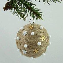 Dekorácie - ORION - vianočná dekorácia - gule a zvonček (guľa ø 7,5 cm) - 11201813_