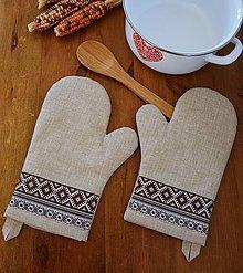 Úžitkový textil - Kuchynské rukavice (chňapka) - 11200628_