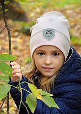 Detské čiapky - Flexi čiapka s aplikáciou-svetloružová - 11202722_