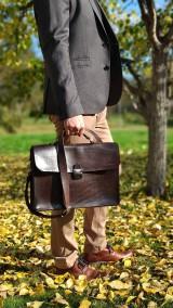 Na notebook - Kožená notebooková taška/aktovka - 11202429_