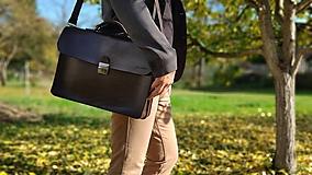 Na notebook - Kožená notebooková taška/aktovka - 11202430_