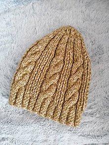 Čiapky - Pletená čiapka - 11201523_