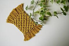 Úžitkový textil - Podložky pod poháre MUSTARD - 11199616_