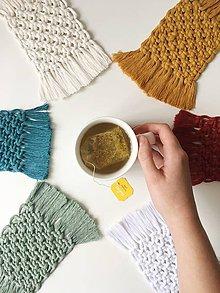 Úžitkový textil - Podložky pod poháre - 11199553_