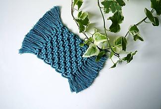 Úžitkový textil - Podložky pod poháre TEAL - 11199589_