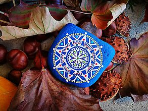"""Dekorácie - Maľovaný kameň """"Babie leto"""" - 11201640_"""