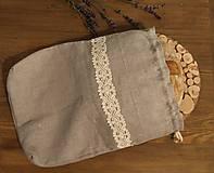 Úžitkový textil - Ľanové vrecko, podšité bavlnou - 11200127_