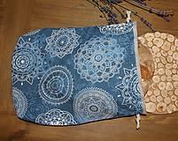 Úžitkový textil - Bavlnené vrecko, podšité ľanom - 11200223_