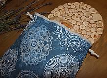 Úžitkový textil - Bavlnené vrecko, podšité ľanom - 11200228_