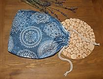 Úžitkový textil - Bavlnené vrecko, podšité ľanom - 11200281_