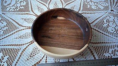 Nádoby - Miska z dreva (Orech) - 11200906_