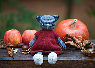 Hračky - Mačička Rozárka - 11199547_