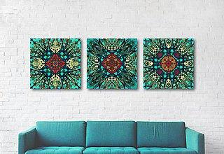 Obrazy - grafiky (3 ks - 40 x 40 cm) - 11202287_