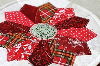 Úžitkový textil - prestierania vianočný kvet - 11199957_