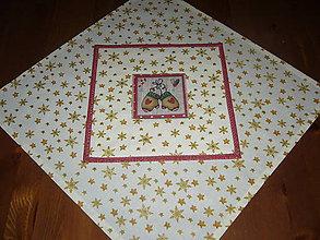 Úžitkový textil - Vianočný set obrus+prestieranie rukavičky - 11201736_