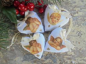 Dekorácie - Vianočná ozdoba-Anjelik - 11199354_