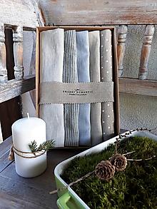 Úžitkový textil - Darčeková sada Linen Towels Simply - 11202271_