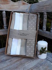 Úžitkový textil - Darčeková sada Linen Towels Natural - 11202315_