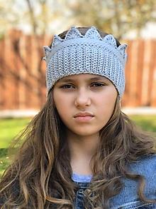 Detské čiapky - čelenkočiapka (sivá) - 11200568_