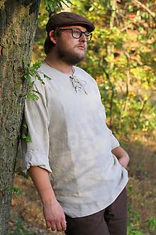 Oblečenie - Ľanová košeľa Horislaw (M) - 11205045_