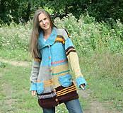 Kabáty - Svetrokabátik barevný - 11204097_