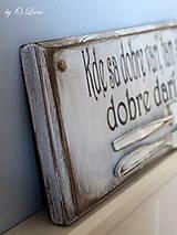 Tabuľky - Kde sa dobre varí ... vintage tabuľka - 11203462_