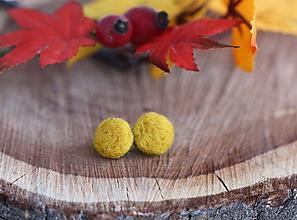 Náušnice - Náušnice - Mini Ďobky Mustard - 11204162_