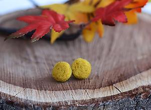 Náušnice - Náušnice - Mini Ďobky Mustard - 11204164_