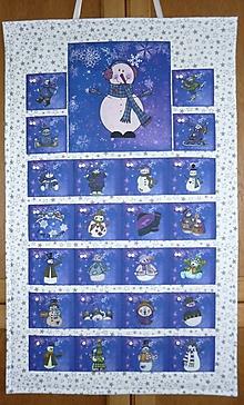 Dekorácie - Adventný kalendár SNEHULIACI (modrý) - 11203656_