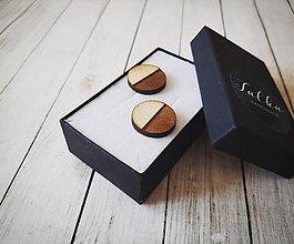 Šperky - Manžetové gombíky drevené - 11205686_