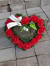 srdce na hrob červené 40 cm