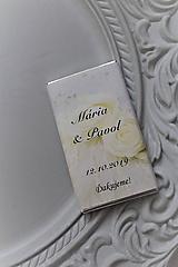 """Darčeky pre svadobčanov - Svadobná čokoládka pre hostí """"white rose"""" - 11205219_"""