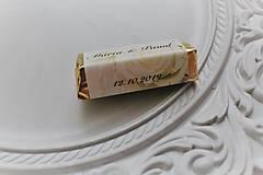 """Darčeky pre svadobčanov - Svadobná čokoládka pre hostí rumba """"white rose"""" - 11205275_"""