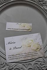 """Papiernictvo - Svadobné oznámenie """"white rose I."""" - 11205430_"""