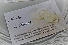"""Papiernictvo - Svadobné oznámenie """"white rose I."""" - 11205431_"""