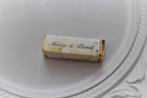 Svadobná čokoládka pre hostí rumba