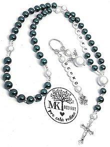 Iné šperky - Setík ruženec s kľúčenkou - 11206397_