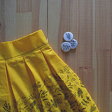 Sukne - Bylinková sukňa - žltá - 11203339_